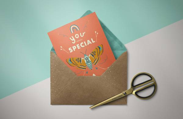Greeting card cover